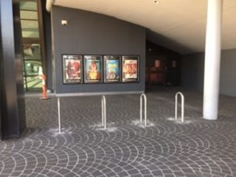 Bike parking installed at Reading Cinemas Auburn complex