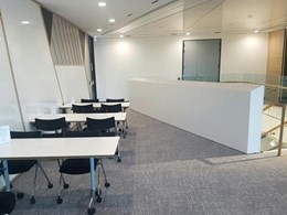 Perimeter fire curtain provides fire protection to MMC's Barangaroo office