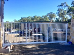 Modular gate installed at rural site