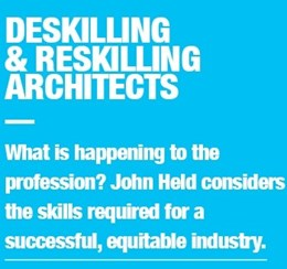 Deskilling and skilling in architect profession - trust, fees and experience [ACA series]