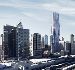 Renders revealed: parametric modelling informs spiralling curves for Elenberg Fraser's Melbourne Tower