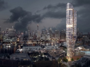 The proposed Ritz-Carlton hotel and residential tower designed by FJMT. Image: FJMT