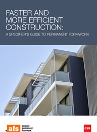 Faster and more efficient construction: A specifier's guide to permanent formwork