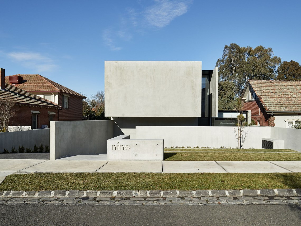 The dramatic family home showcasing the beauty of concrete