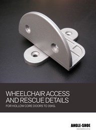 Wheelchair access and rescue details for hollow core doors to 35kg