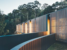 Noosa's stunning timber & glass home designed to offer both views and sun protection