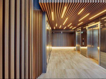 There is no need for architects to compromise on the aesthetic and warmth that a timber product offers a design due to fire safety concerns.
