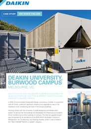 New air conditioning system takes Deakin University to the top of the class