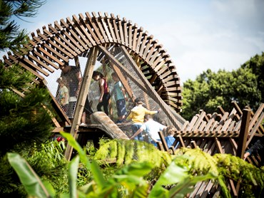 The Ian Potter Children's Wild Play Garden at Centennial Parklands. Image: ASPECT Studios