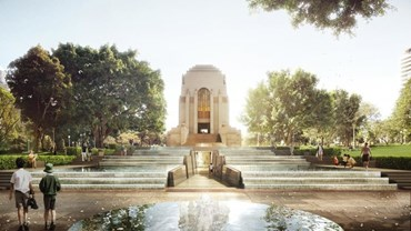 Anzac Memorial Centenary Project architectural rendered image by Johnson Pilton Walker Pty Ltd