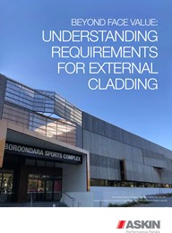 Beyond face value: Understanding requirements for external cladding