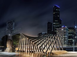 Pop-up sculptural pavilion in Southbank