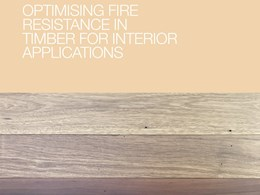 Optimising fire resistance in timber for interior applications