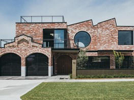 A contemporary home that looks like a heritage factory