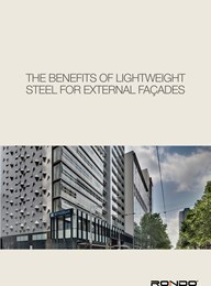 The benefits of lightweight steel for external façades