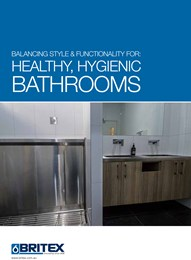Balancing style & functionality for healthy, hygienic bathrooms