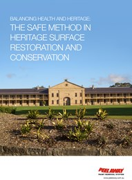 Balancing health and heritage: The safe method in heritage surface restoration and conservation
