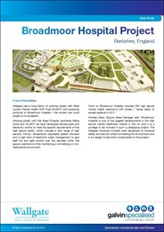 Case study: Broadmoor Hospital