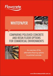 Comparing polished concrete and resin floor options for commercial environments