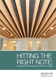 Hitting the right note: Designing an environment with acoustics in mind