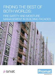 Finding the best of both worlds: Fire safety and moisture management in building facades