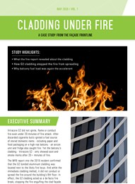 Cladding under fire: A case study from the facade frontline