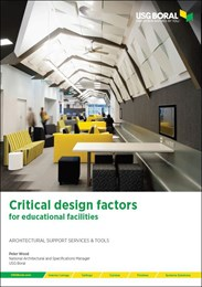 Critical design factors for educational facilities
