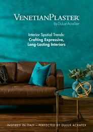 Crafting expressive, long-lasting interiors with Venetian Plaster by Dulux Acratex