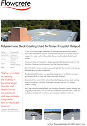 Flowcrete polyurethane deck coating protects Nambour General Hospital helipad