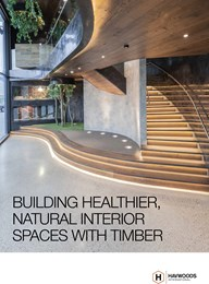 Building healthier, natural interior spaces with timber