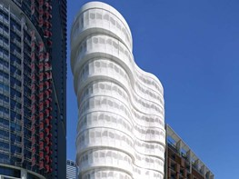 Contrasting façades for Barangaroo South apartments embody earth, water and sky