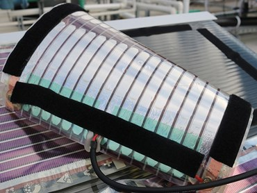 The University of Newcastle has unveiled Australia's first printed solar field. Image: UON