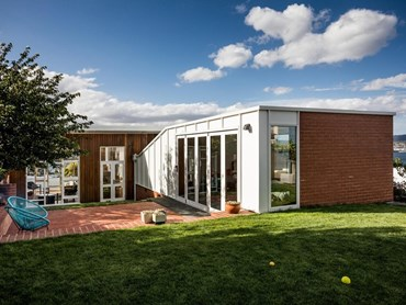 Longview Avenue Garden Room by Taylor and Hinds Architects. Photography by Adam Gibson