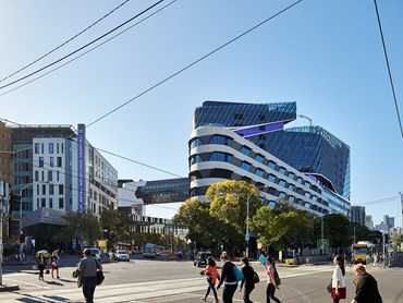Victorian Comprehensive Cancer Centre by STHDI and MCR (Silver Thomas Hanley, DesignInc and McBride Charles Ryan). Photography by Peter Bennetts