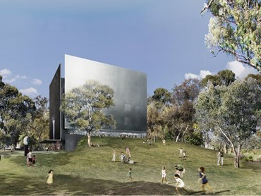 The winning design for the Shepparton Art Museum by Denton Corker Marshall