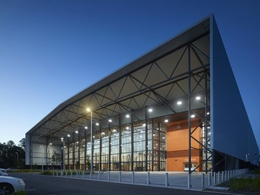 Coomera Sports and Leisure Centre by BDA Architecture with Peddle Thorp Architects. Photography by Scott Burrow