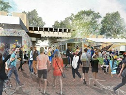 Green pop-up village springs up at ANU ahead of $220-million redevelopment