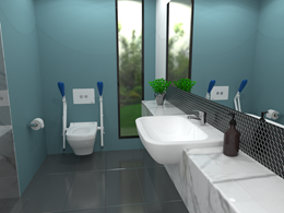Choose Britex ceramic products for chic, contemporary bathroom design