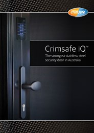 Take security to the next level with Crimsafe iQ™
