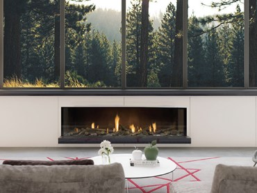 Escea DS1650 gas fire makes a big impact using a small footprint