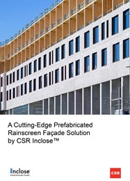 Innovative prefabricated rainscreen from CSR takes facade construction to the next level