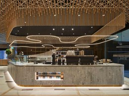 Keystone's pine dowel feature ceiling adds character to 1 Martin Place