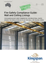 Kingspan wall and ceiling linings ensure fire safety compliant warehouses and sheds