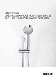 Make it rain: Adding luxury to hospitality spaces with high quality shower products