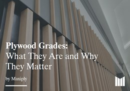 Choosing the right plywood for a flawless finish