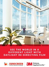 See the world in a different light with daylight redirecting film