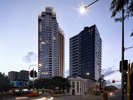 New Koichi Takada Brisbane tower features facade-length waterfall