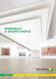 Manage acoustics in style with USG Boral Ensemble™ Acoustical Plasterboard Ceilings