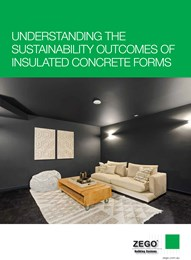 Understanding the sustainability outcomes of insulated concrete forms