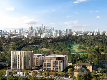 Eastlakes Live will adjoin to Eastlakes Reserve, comprising over 400 apartments and a new Town Centre. The development boasts impressive nature and city skyline views. Image: Crown Group